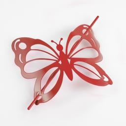 Embrasse broche 16 x 14 cm metal peint farfalina Rouge