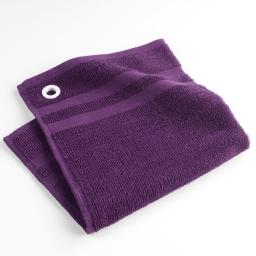 Essuie-main 50 x 50 cm eponge unie cave a vin Violet