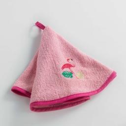 Essuie-main rond (0) 60 cm eponge brodee miami fun Rose