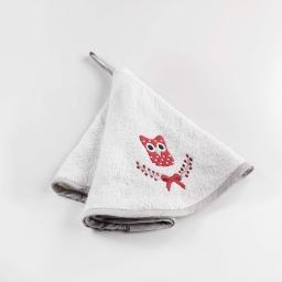 Essuie-main rond (0) 60 cm eponge brodee sweet winter Lin