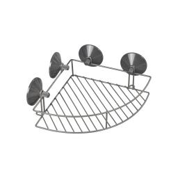 etagere de douche d'angle a ventouses fortes metal urban anthracite