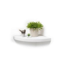 Etagere flottante d'angle  25 x 25 x 3.4 cm Blanc