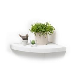 Etagere flottante d'angle  35 x 35 x 3.4 cm Blanc