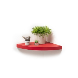 etagere flottante d'angle rouge 25*25*3.4cm