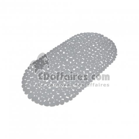 fond de baignoire galet pvc 36*69cm vitamine gris clair