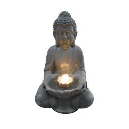 fontaine bouddha lotus 4leds 29.5*28*h45cm