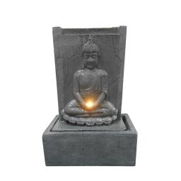 fontaine plaque bouddha assis led 41.5*22*h60cm