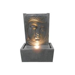 fontaine plaque tete bouddha 4leds 32*17*h46cm