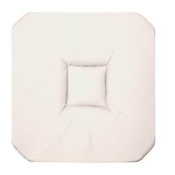 Galette 4 rabats 36 x 36 x 3.5 cm coton uni panama Blanc