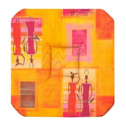 Galette 4 rabats 36 x 36 x 3.5 cm polyester imprime afrika Epices