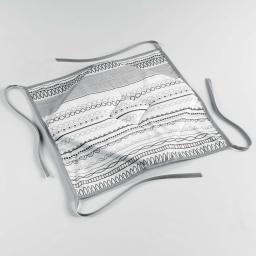 Galette 4 rabats 36 x 36 x 3.5 cm polyester imprime analea Noir/Blanc