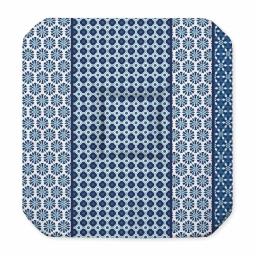 Galette 4 rabats 36 x 36 x 3.5 cm polyester imprime damara Indigo