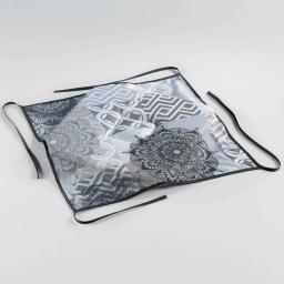 Galette 4 rabats 36 x 36 x 3.5 cm polyester imprime flamenco Gris