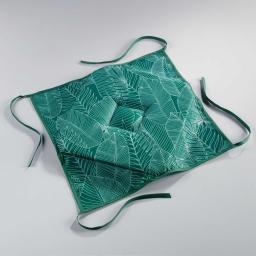 Galette 4 rabats 36 x 36 x 3.5 cm polyester imprime gatsby Vert