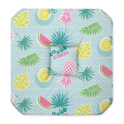galette 4 rabats 36 x 36 x 3.5 cm polyester imprime happy summer