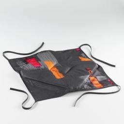 Galette 4 rabats 36 x 36 x 3.5 cm polyester imprime jaya Anthracite