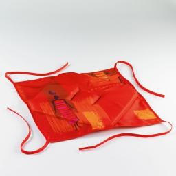 Galette 4 rabats 36 x 36 x 3.5 cm polyester imprime jaya Cuivre