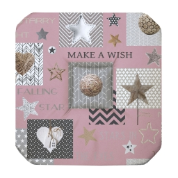 Galette 4 rabats 36 x 36 x 3.5 cm polyester imprime starly Rose
