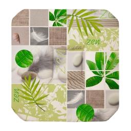 Galette 4 rabats 36 x 36 x 3.5 cm polyester photoprint equateur Vert