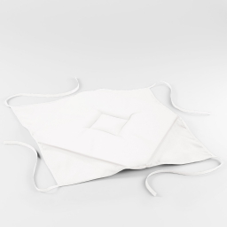 Galette 4 rabats 36 x 36 x 3.5 cm polyester uni essentiel Blanc