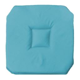 Galette 4 rabats 36 x 36 x 3.5 cm polyester uni essentiel Bleu