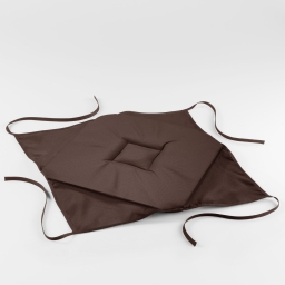 Galette 4 rabats 36 x 36 x 3.5 cm polyester uni essentiel Brun