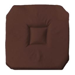 Galette 4 rabats 36 x 36 x 3.5 cm polyester uni essentiel Chocolat