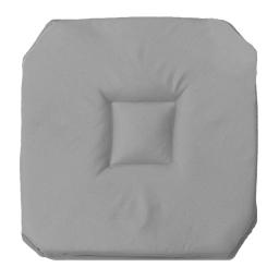 Galette 4 rabats 36 x 36 x 3.5 cm polyester uni essentiel Gris