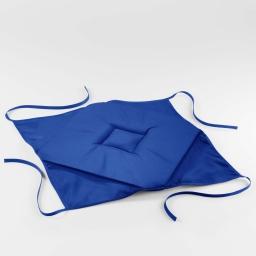 Galette 4 rabats 36 x 36 x 3.5 cm polyester uni essentiel Indigo