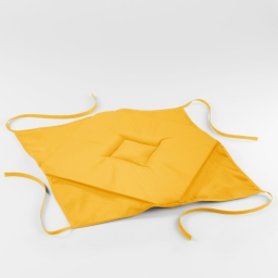 Galette 4 rabats 36 x 36 x 3.5 cm polyester uni essentiel Jaune