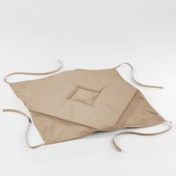 Galette 4 rabats 36 x 36 x 3.5 cm polyester uni essentiel Lin