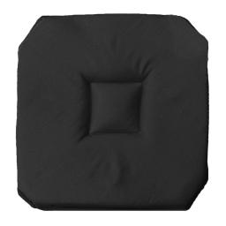 Galette 4 rabats 36 x 36 x 3.5 cm polyester uni essentiel Noir