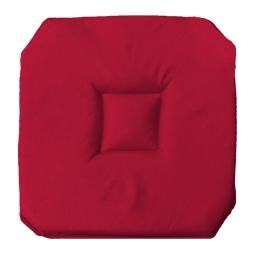 Galette 4 rabats 36 x 36 x 3.5 cm polyester uni essentiel Rouge