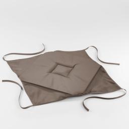 Galette 4 rabats 36 x 36 x 3.5 cm polyester uni essentiel Taupe