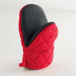 Gant pince 20 x 14.5 cm polycoton+neoprene cuistot Rouge
