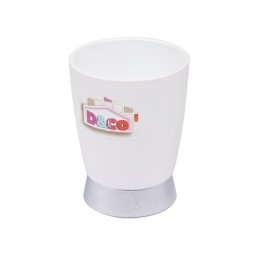 gobelet blanc chromé - licence d&co
