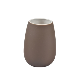 gobelet effet soft touch chocolat - licence d&co