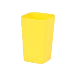 gobelet plastique effet soft touch vitamine jaune