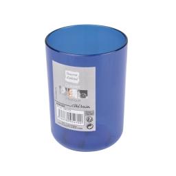 gobelet plastique translucide vitamine bleu roi