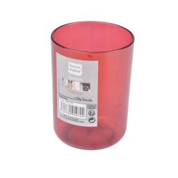 gobelet plastique translucide vitamine rouge