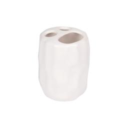 gobelet porte brosse a dent origami ceramique sweet home blanc finition mate