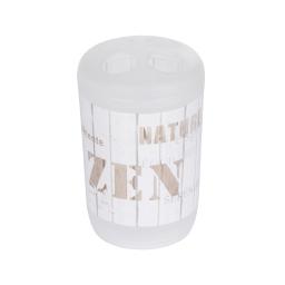 gobelet porte brosse a dent plastique zen wood