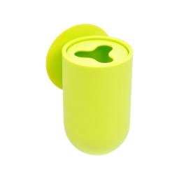 gobelet porte brosse a dent ventouse plastique vitamine vert anis