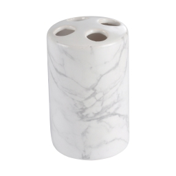 gobelet porte brosse ceramique effet marbre