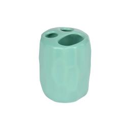 gobelet porte brosse dent origami ceramique sweet home vert menthe finition mate