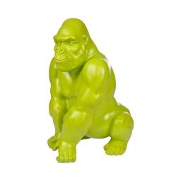 gorille en polyresine vert anis h.41*l.29.5*p.26cm