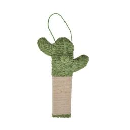 Griffoir a suspendre cactus polyester/jute 31*51cm Vert