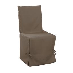 Housse de chaise nouettes 50 x 50 x 50 cm polyester uni essentiel Taupe