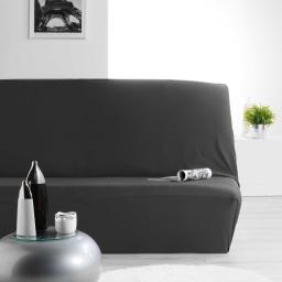 Housse de clic clac 140 x 195 cm polyester extensible nova Noir