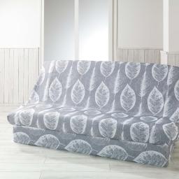 Housse de clic clac 195 x 70 x 65 cm polyester imprime feuilla Gris